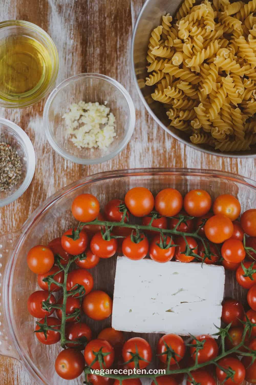 Tiktok pasta ingredienten