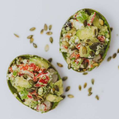 Gevulde avocado salade recept