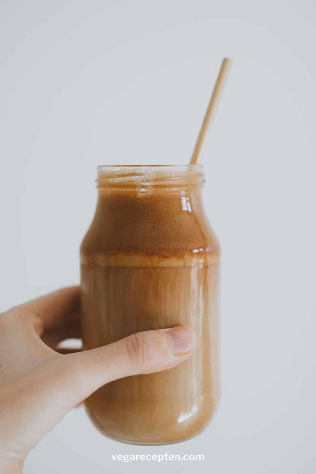 Griekse ijskoffie met melk