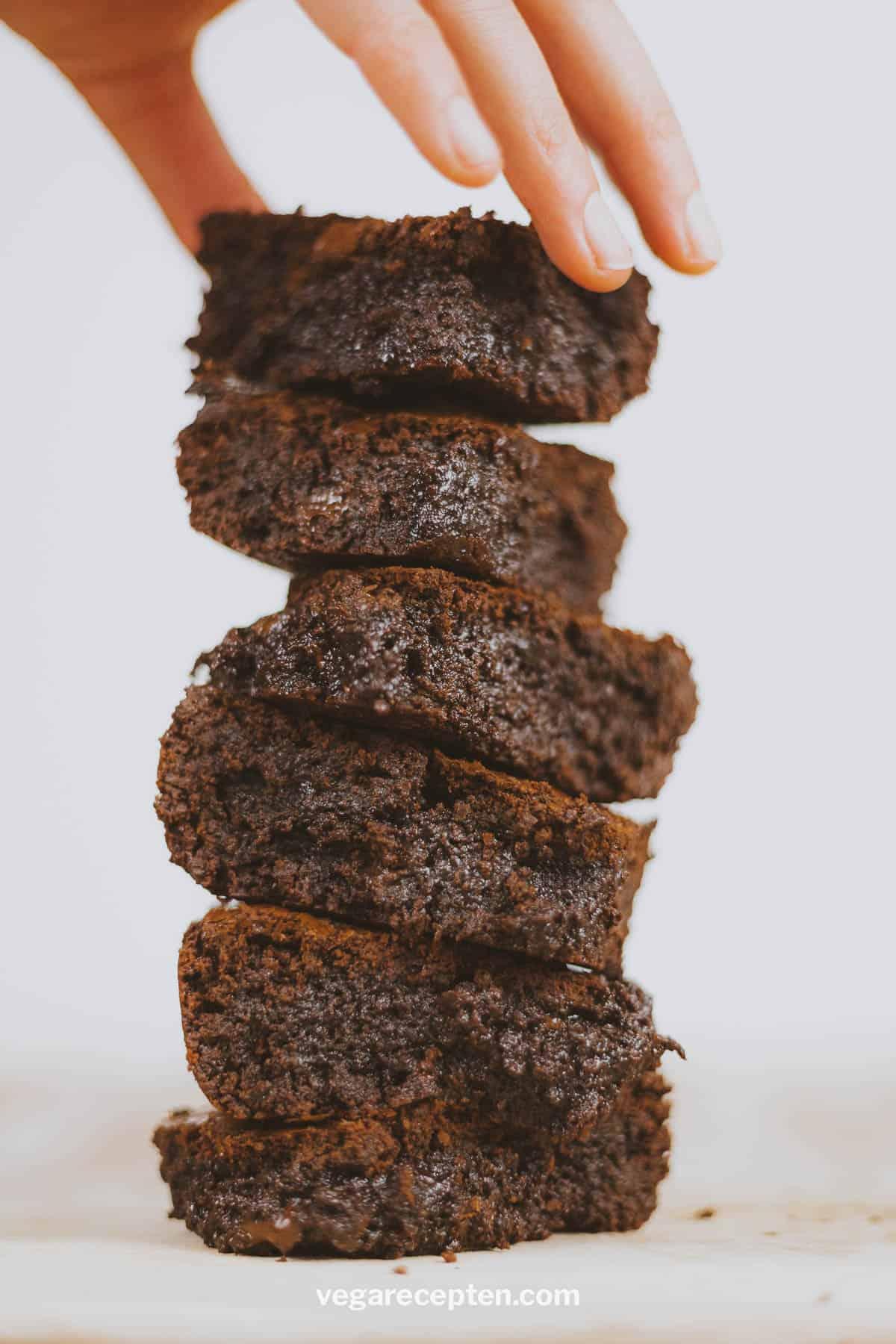 Stapel brownies