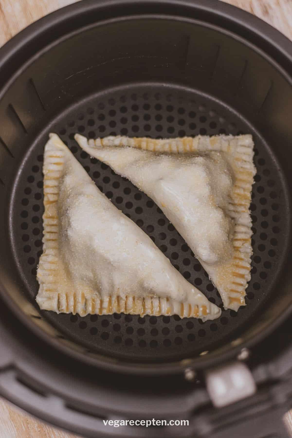 vegan apple turnovers airfryer