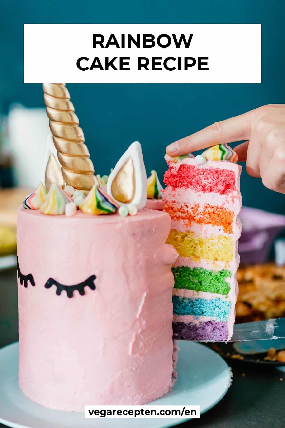 vegan rainbow cake recipe