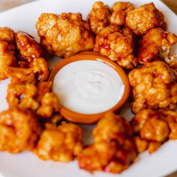 BBQ bloemkool wings recept bloemkool uit de oven, airfryer of BBQ