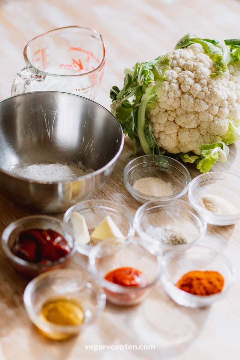 BBQ cauliflower wings recipe ingredients