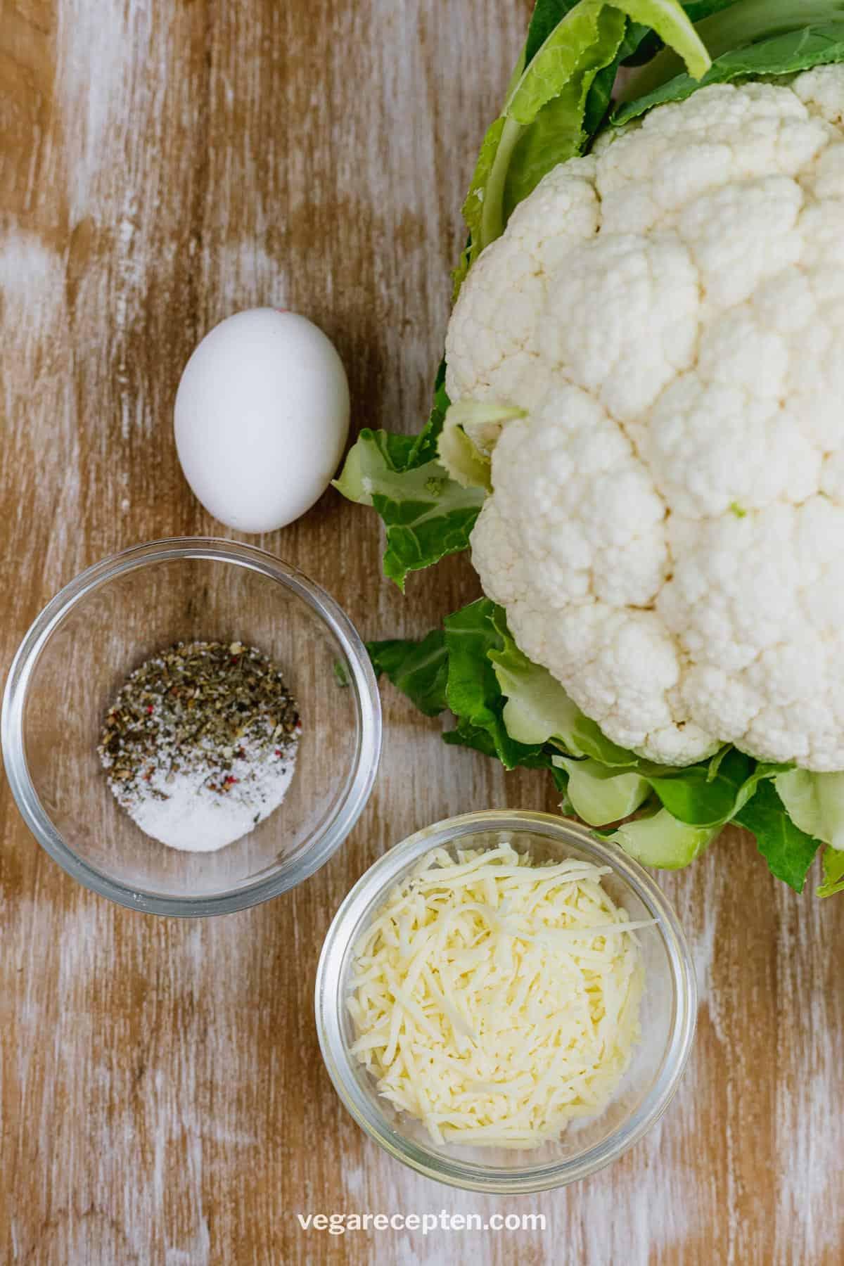 Bloemkoolpizza ingredienten