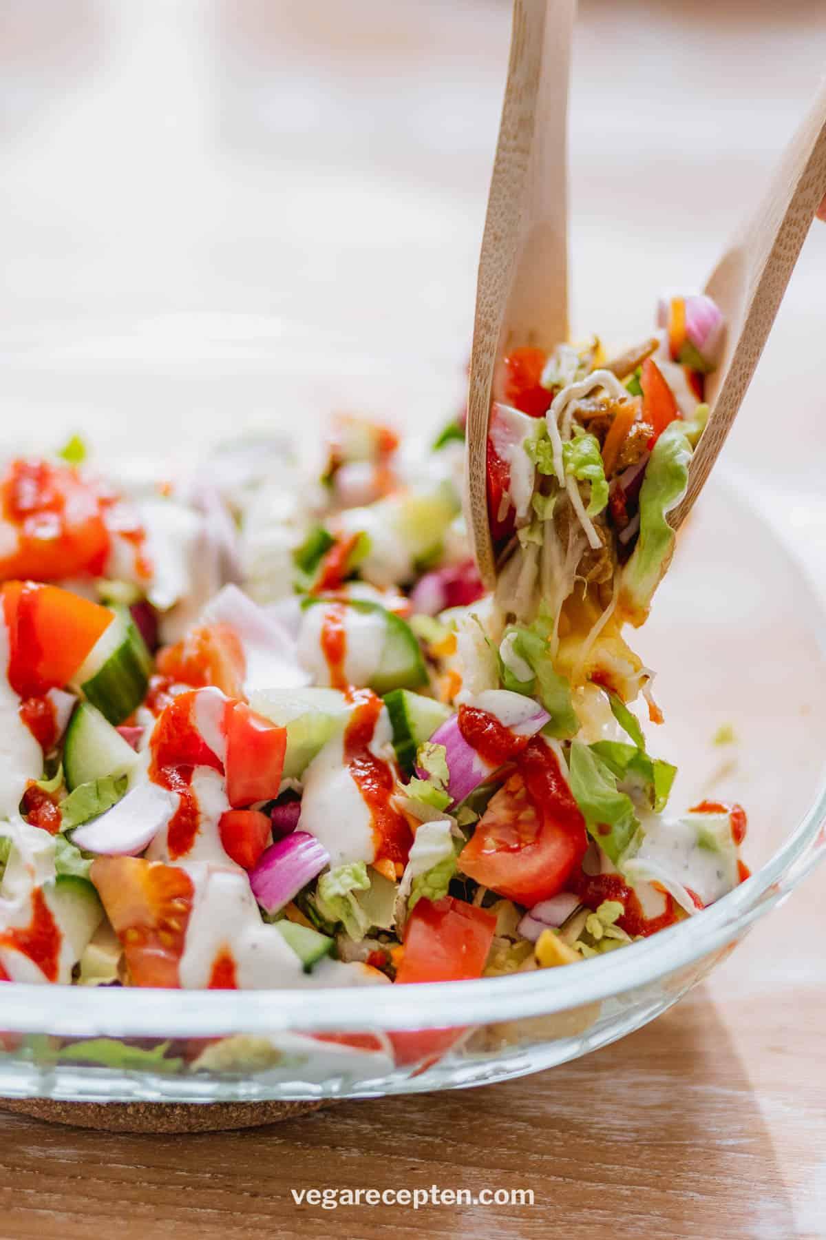 Vegetarisch kapsalon recept