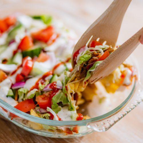 Vegetarische kapsalon maken