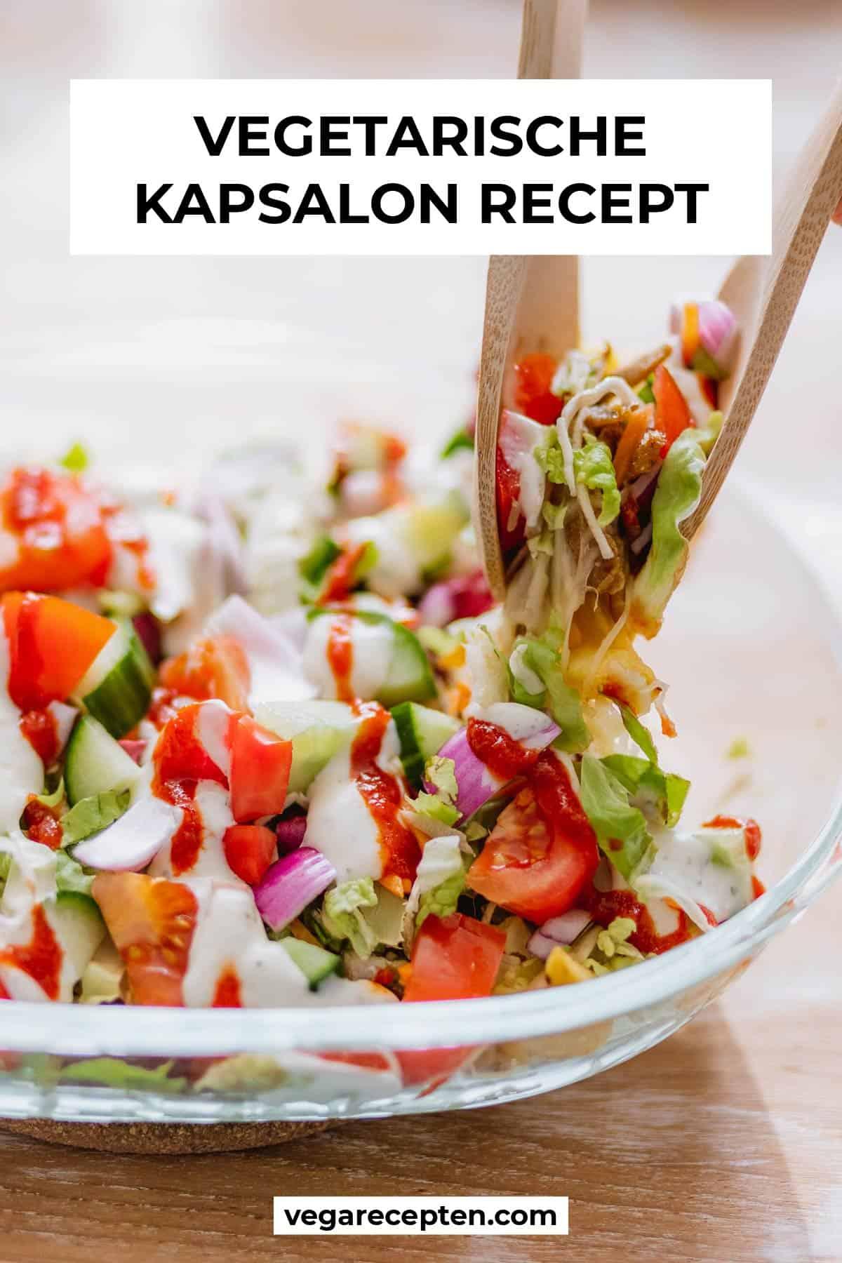 Vegetarische kapsalon recept