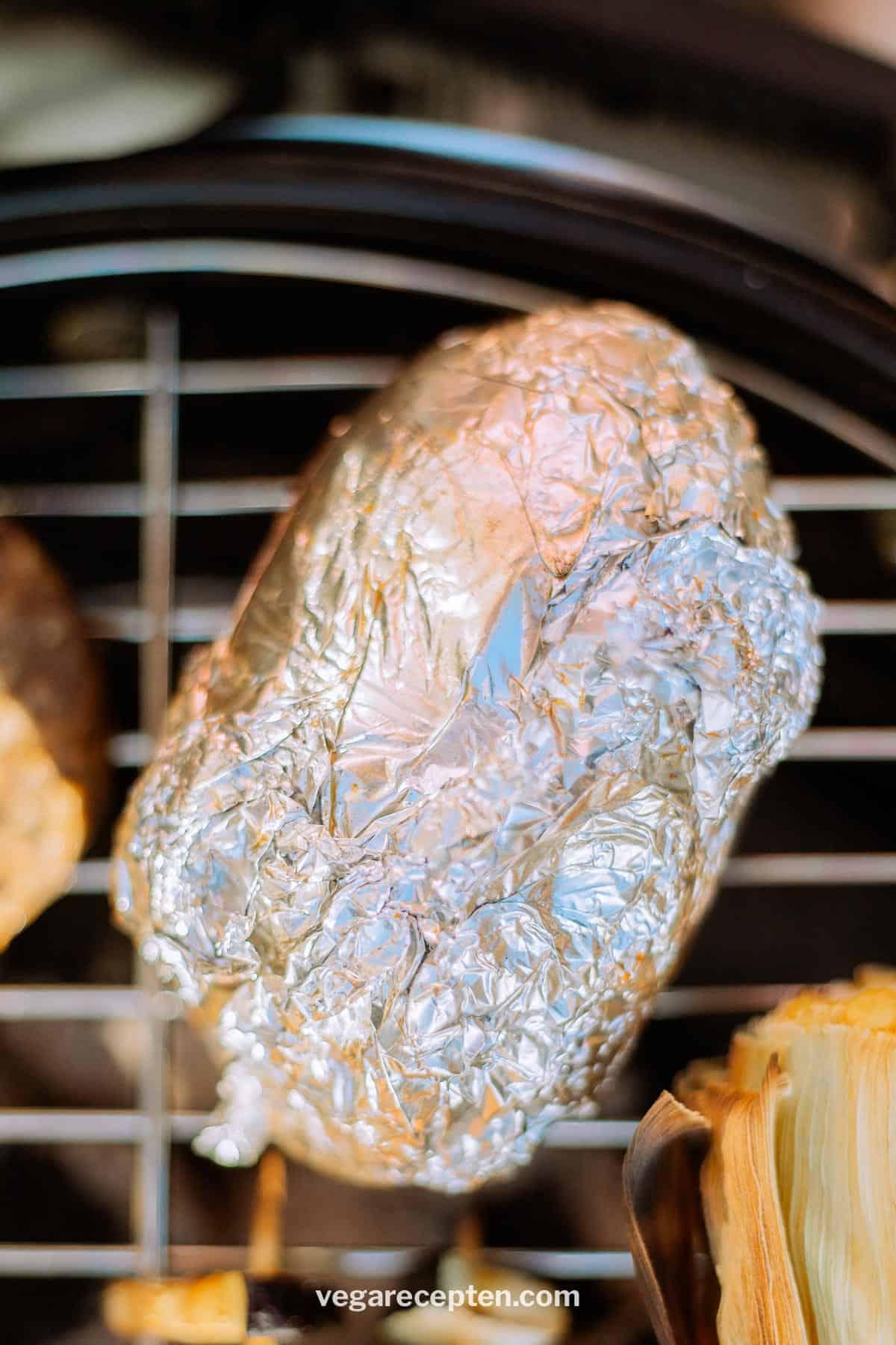 Gepofte aardappel bbq vega
