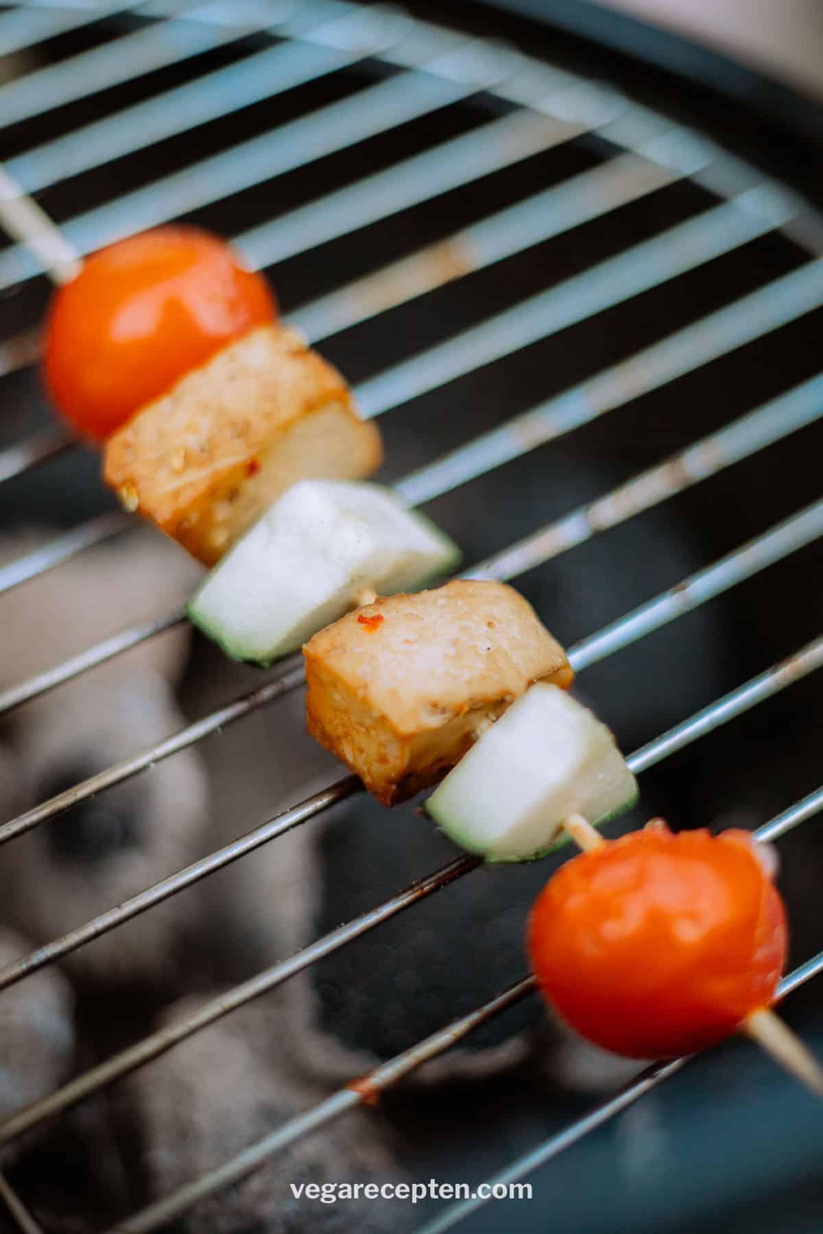 Tofu spies vegetarische barbecue