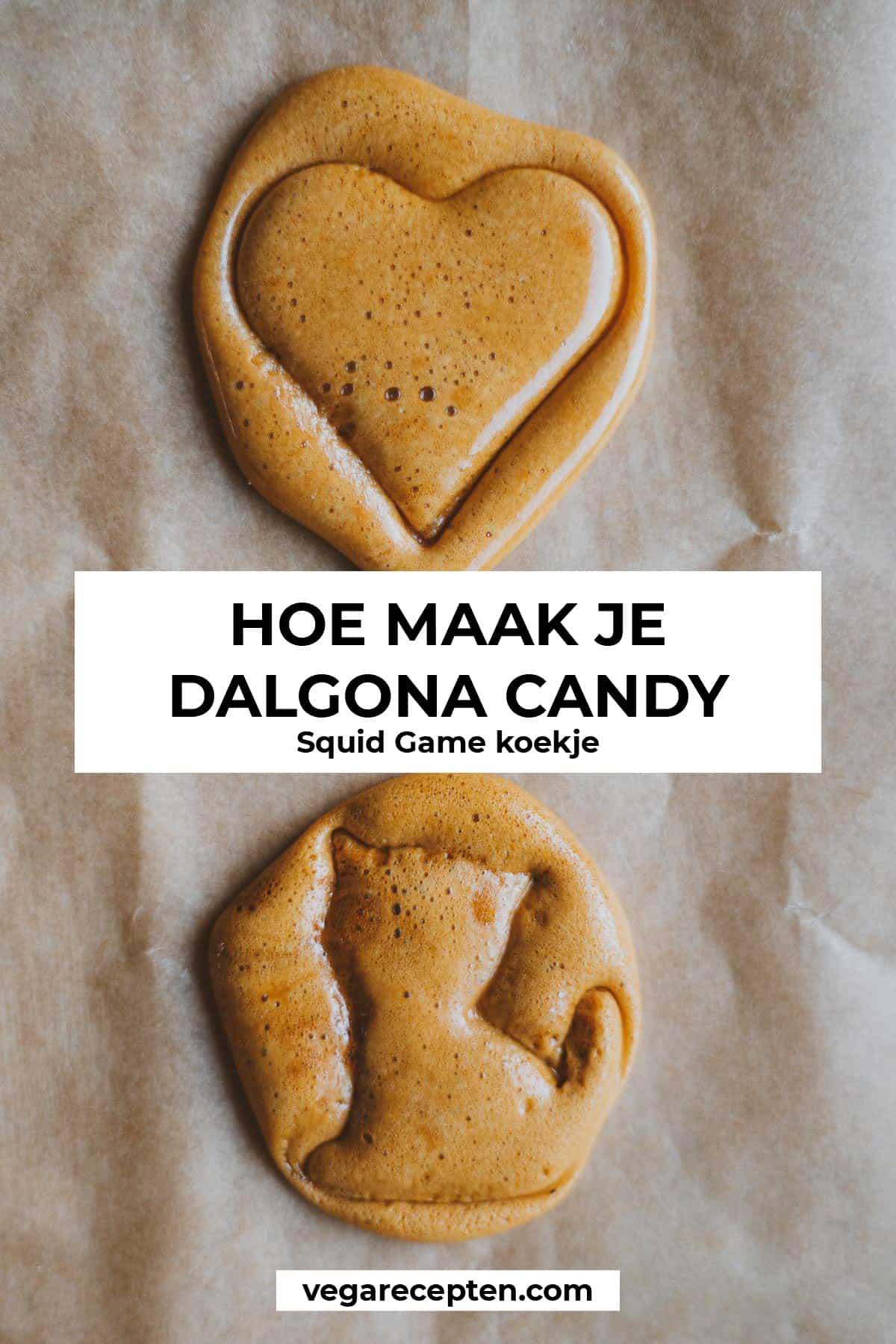 Hoe maak je dalgona candy squid game koekje recept
