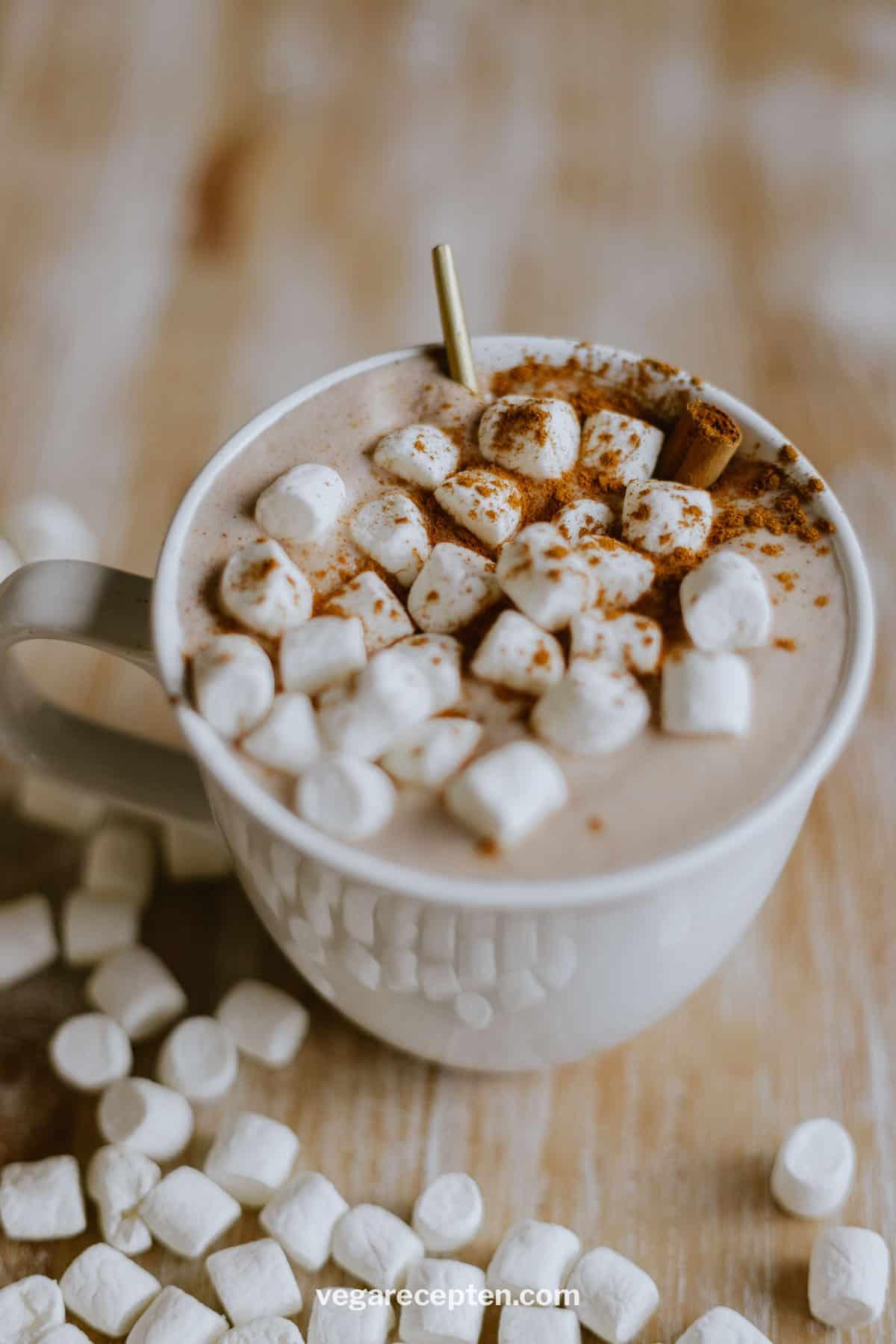Warme chocolademelk met Nutella